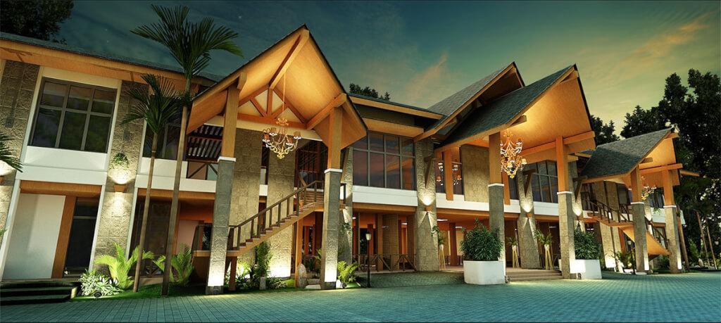The pavilion villas of La Jolla Luxury Beach Resort